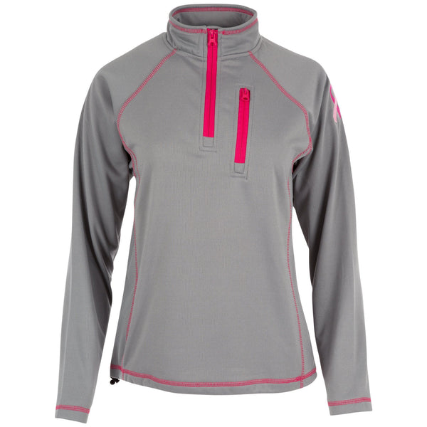 Pink Ribbon Quarter Zip Pullover