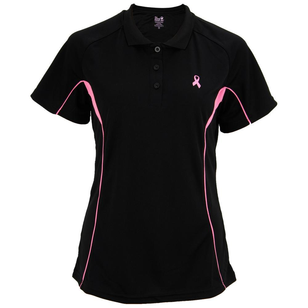 Pink Ribbon Quick-Dry Polo Shirt