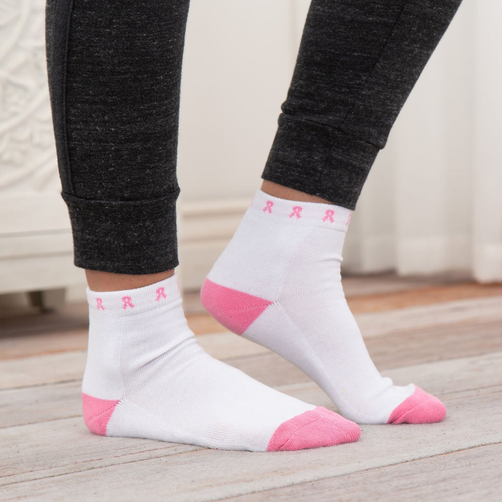 Pink Ribbon Sport Socks - Set Of 3