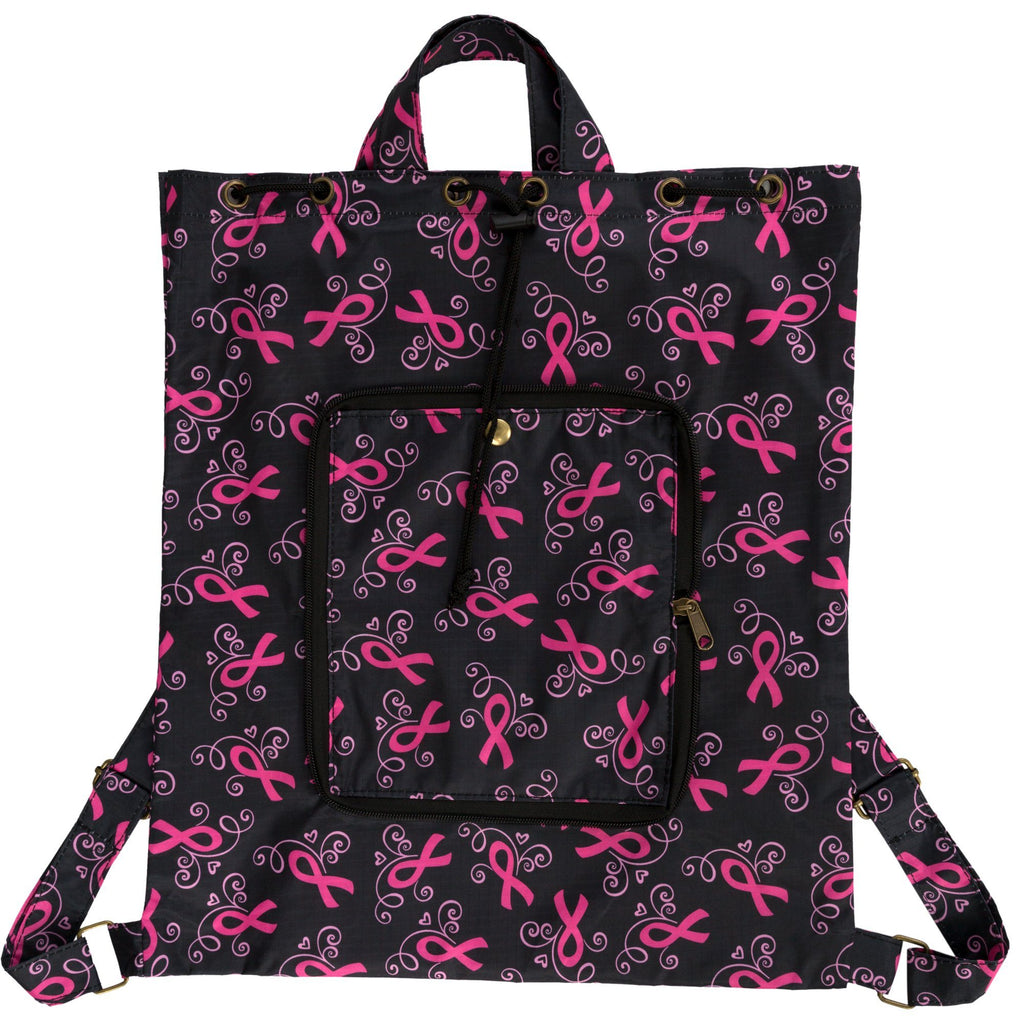 Pink Ribbons & Hearts Packable Backpack