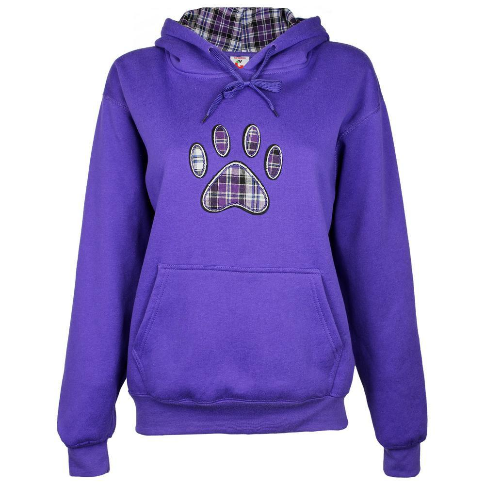 Plaid Paw Hooded Sweatshirt