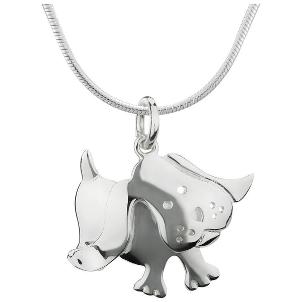 Playful Puppy Sterling Necklace