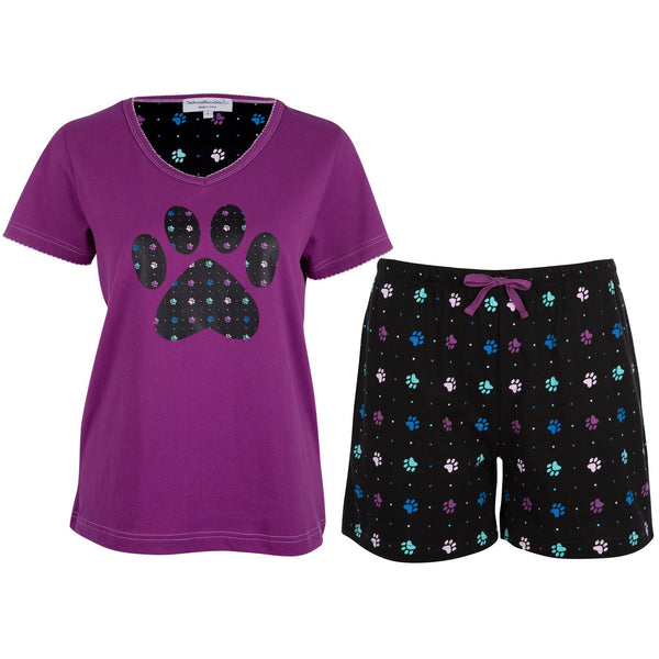 Polka Dot Paws Pajama Shorts Set