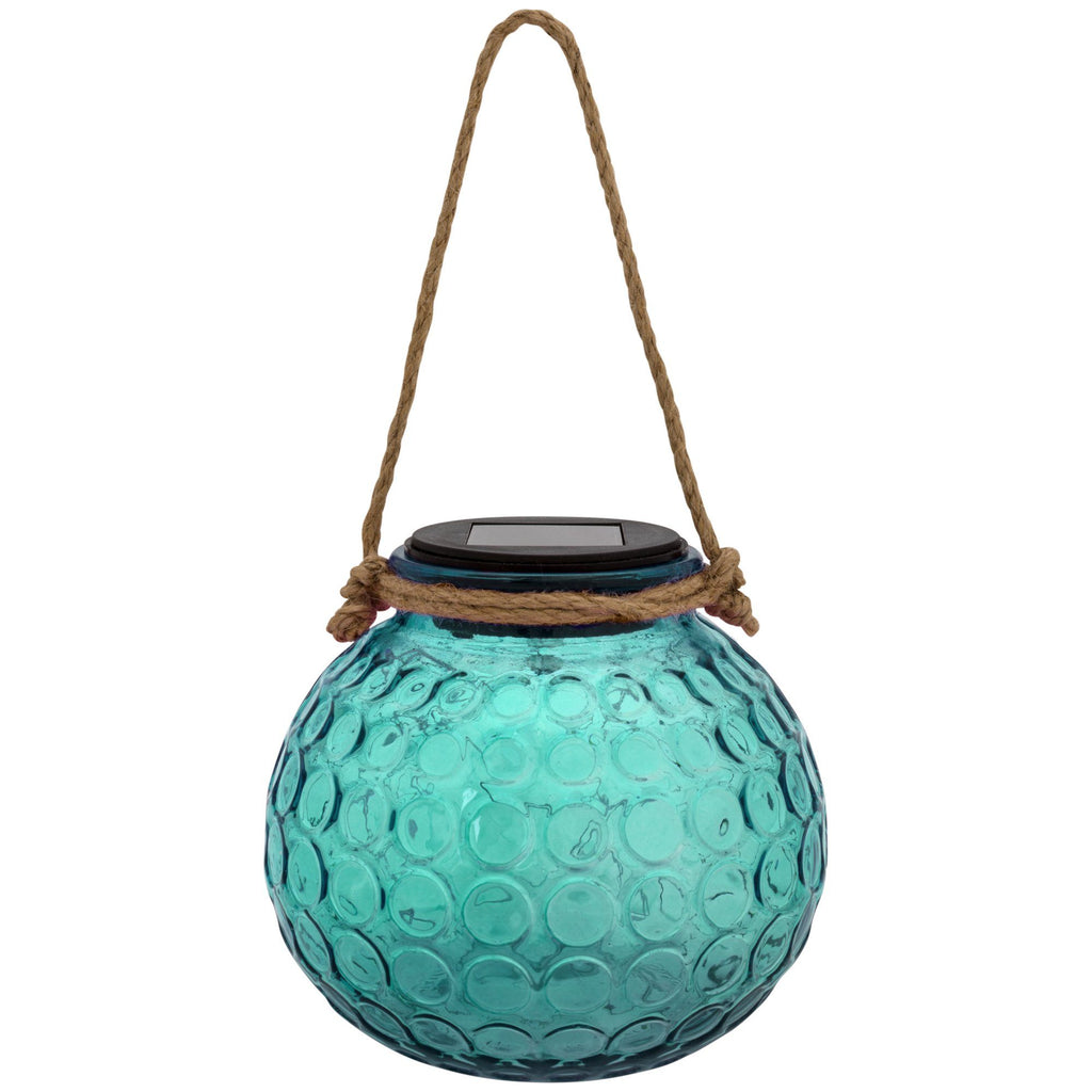 Pop Of Color Glass Solar Lantern