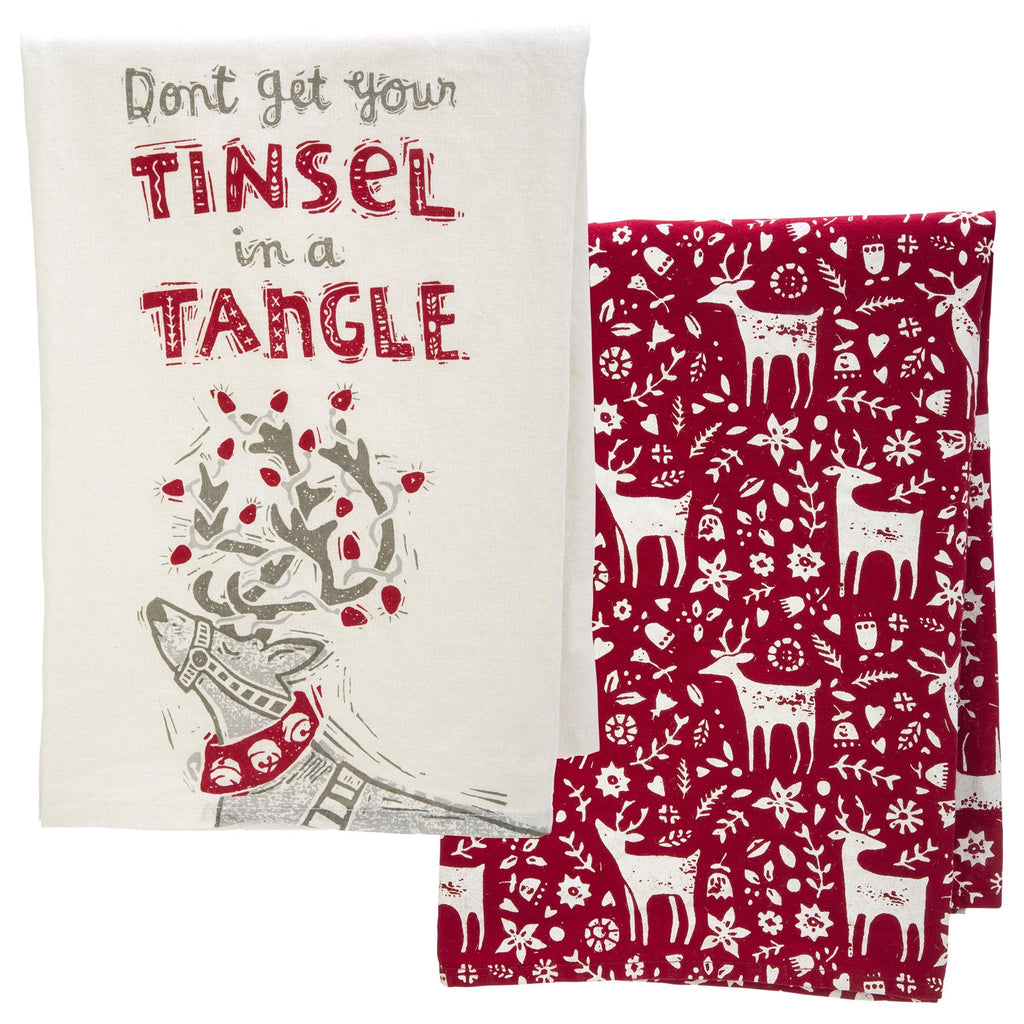 Primitives By Kathy® Reindeer Dish Towels Set