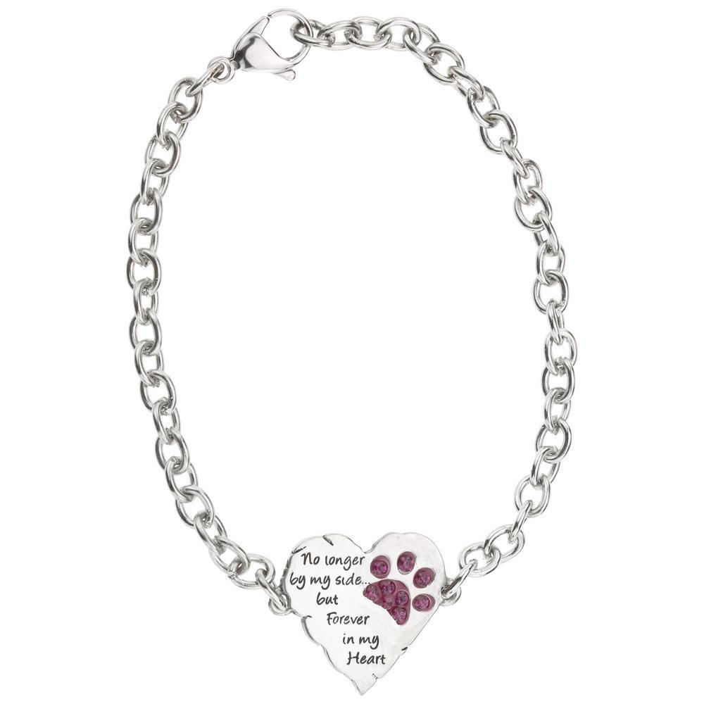 PROMO - Forever In My Heart Paw Print Remembrance Bracelet