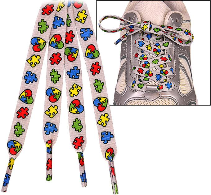 Promo - PROMO - Autism Awareness Puzzle Piece Shoelaces