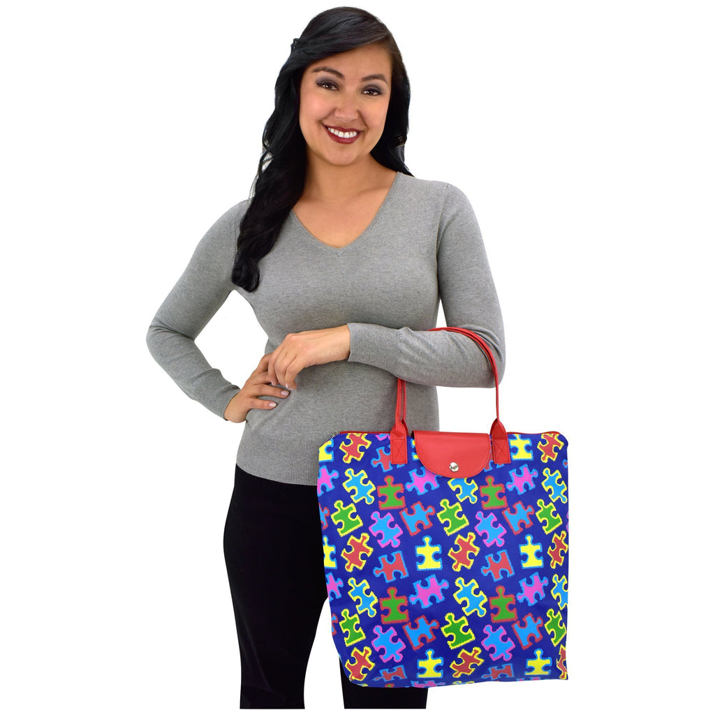 Promo - PROMO - Free Spirit Puzzle Piece Packable Tote