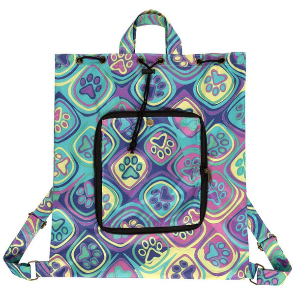 Promo - PROMO - Kaleidoscope Of Paws Packable Backpack