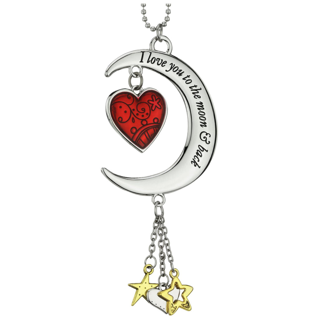 Promo - PROMO - Love You To The Moon & Back Heart Car Charm
