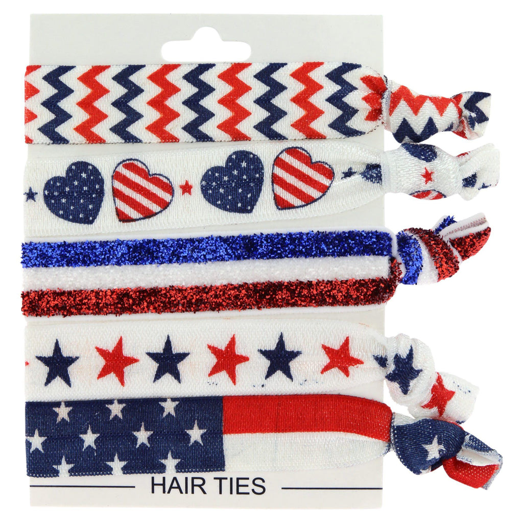 Promo - PROMO - Stars & Stripes Americana Hair Ties - Set Of 5