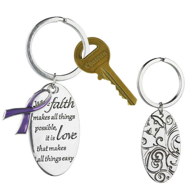 Promo - PROMO - With Faith Alzheimer's Awareness Keychain