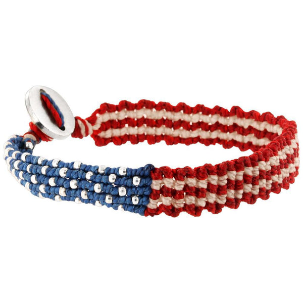 PROMO - Red White & Blue Woven Bracelet