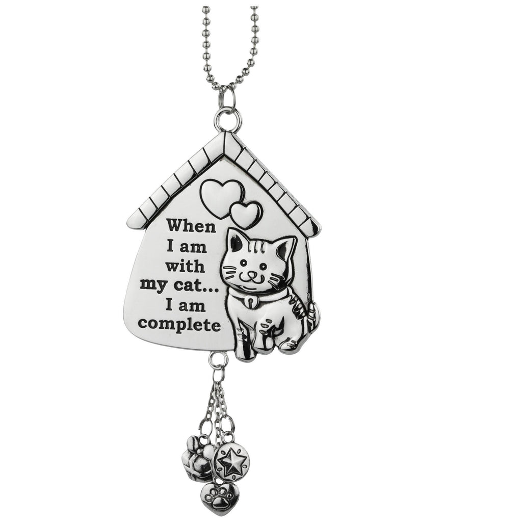 PROMO - When I Am With My Cat I Am Complete Car Charm