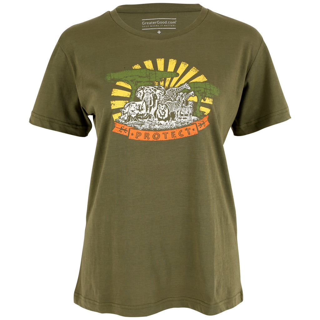Protect African Wildlife Organic Cotton Tee