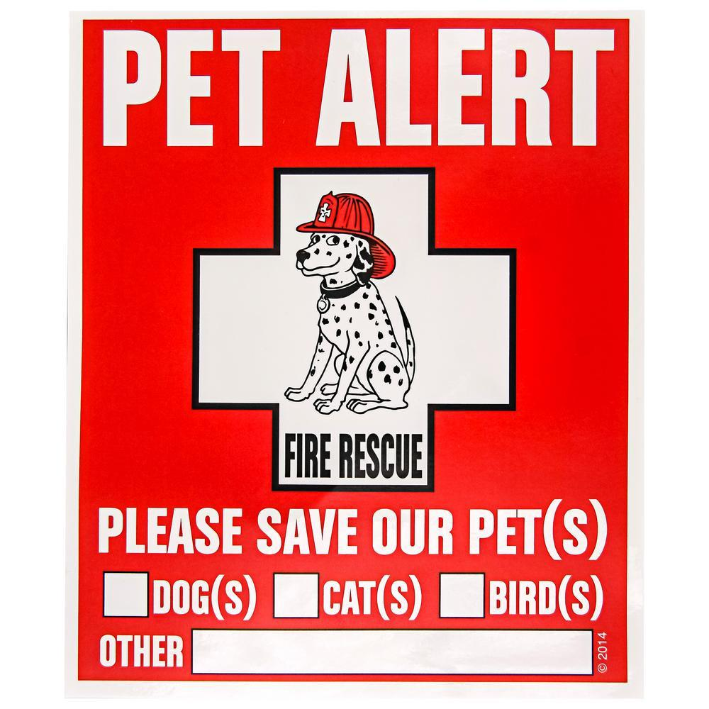 Protect My Pet Window Clings - Set Of 2
