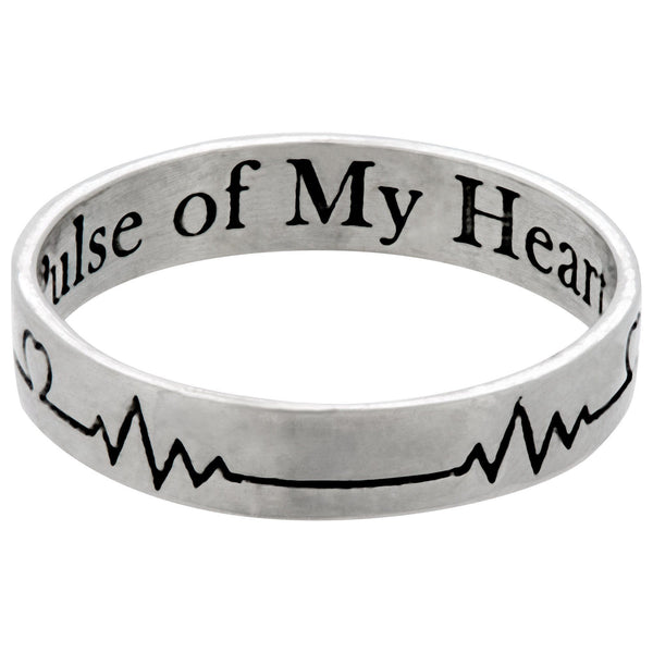 Pulse Of My Heart Sterling Ring