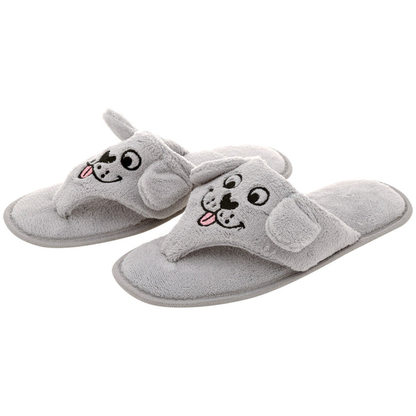 Puppy Love Cozy Flip Flop Slippers