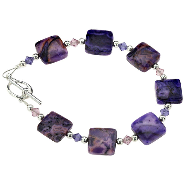 Purple Crazy Lace Agate Bracelet