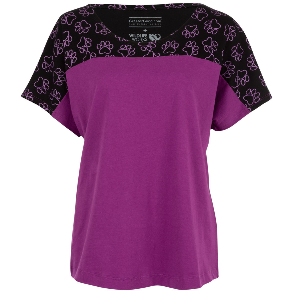Purple Paw Dolman Top