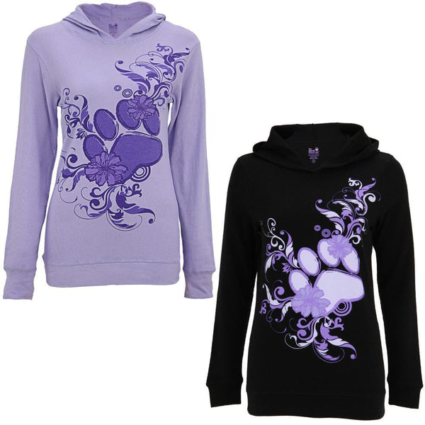Purple Paw Lightweight Thermal Hoodie