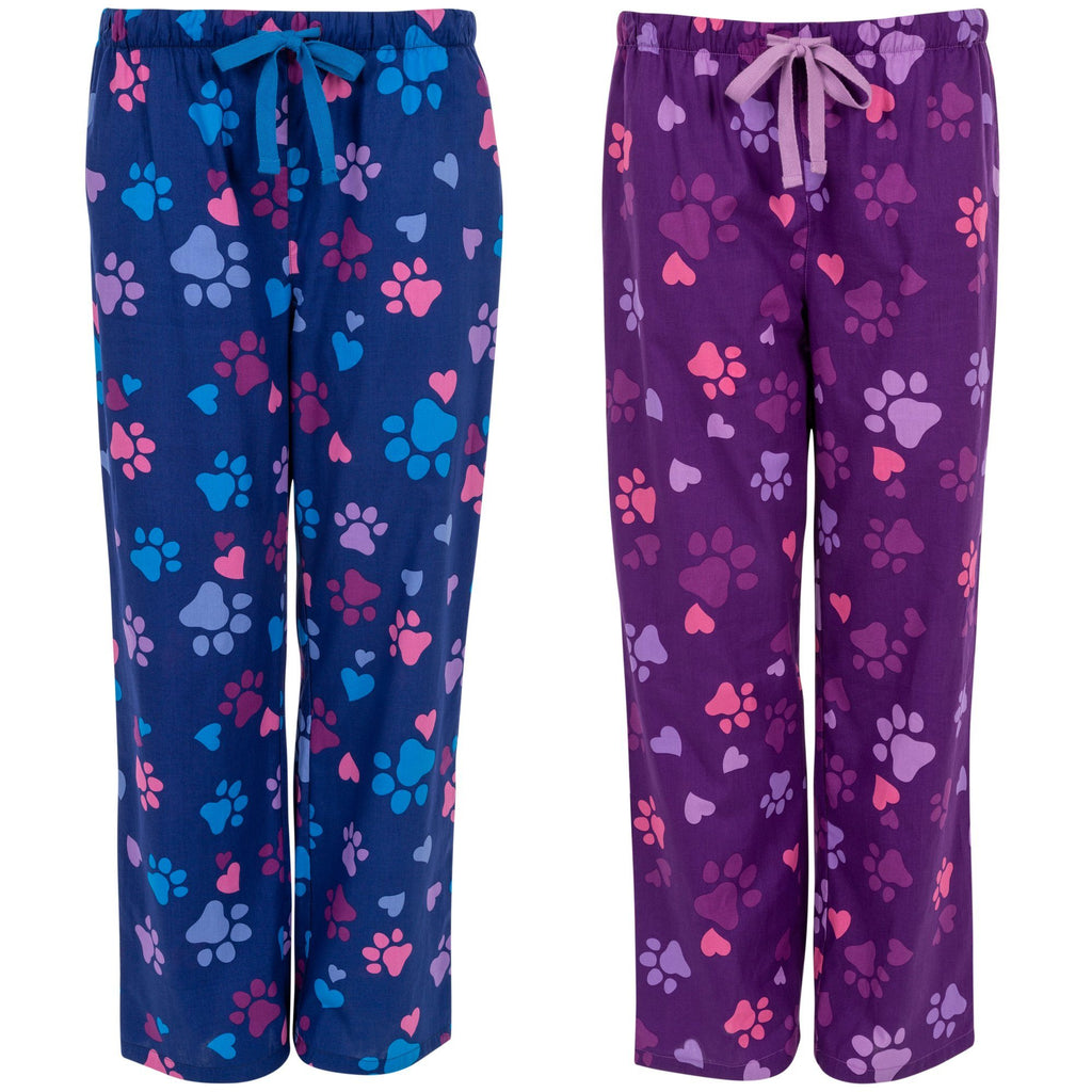 Purple Paws & Hearts Lightweight Lounge Pants