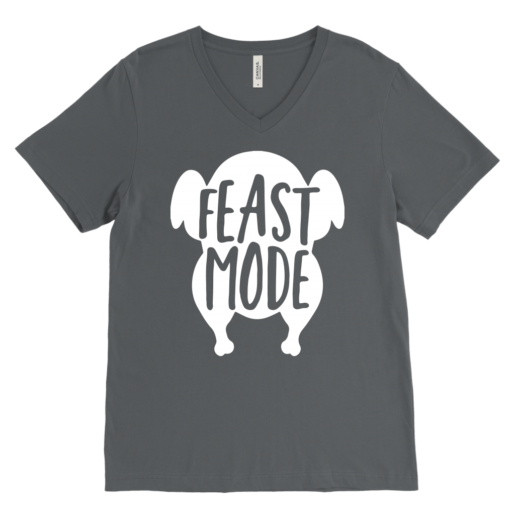 T-shirt - Feast Mode V-Neck T-Shirt