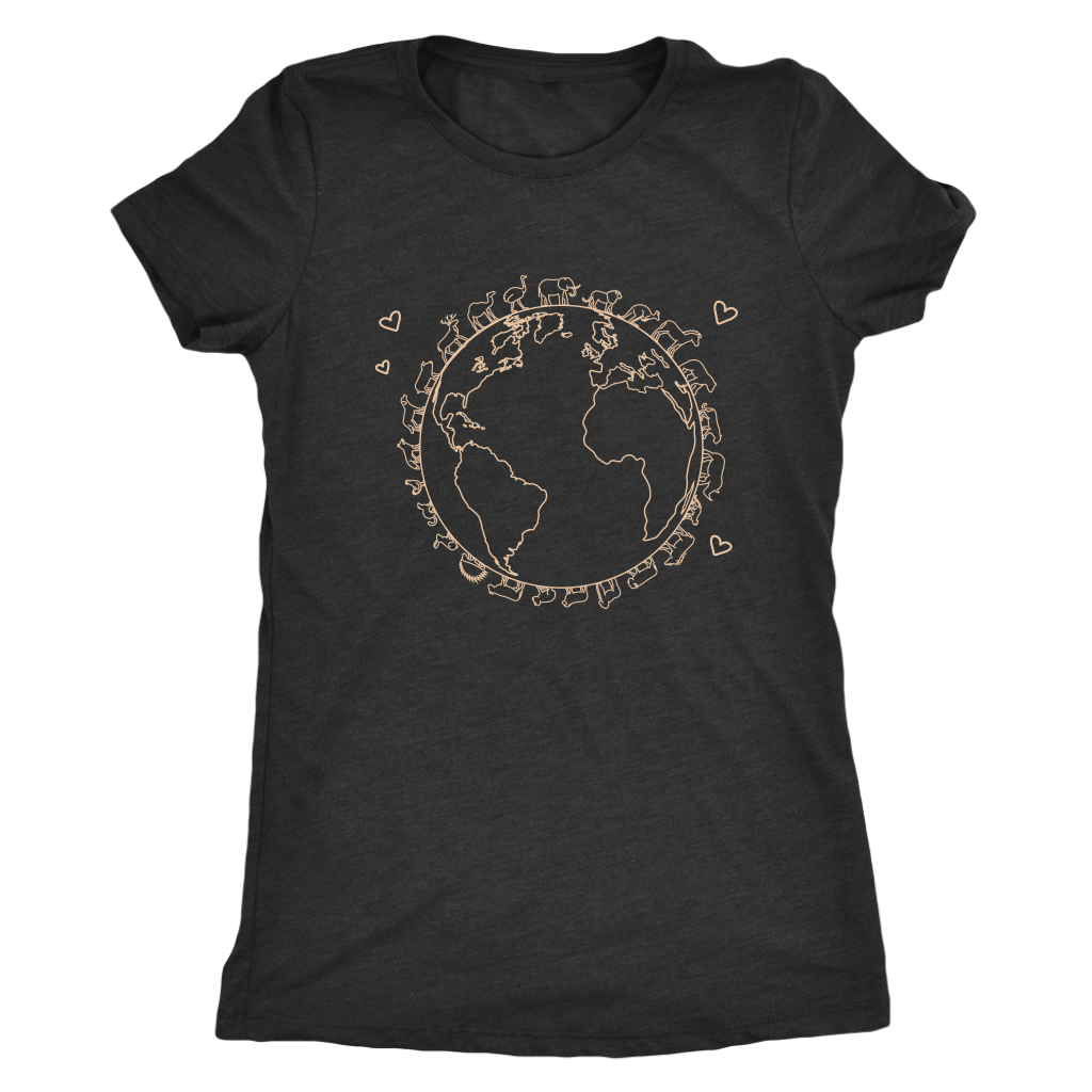 T-shirt - Love The Earth Triblend Fitted Tee