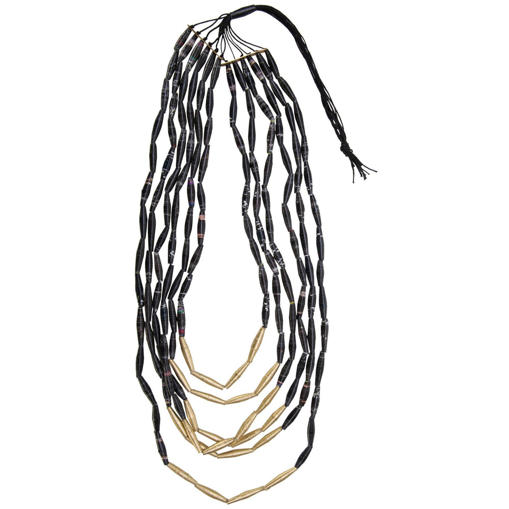 Quazi Long Layers Recycled Necklace