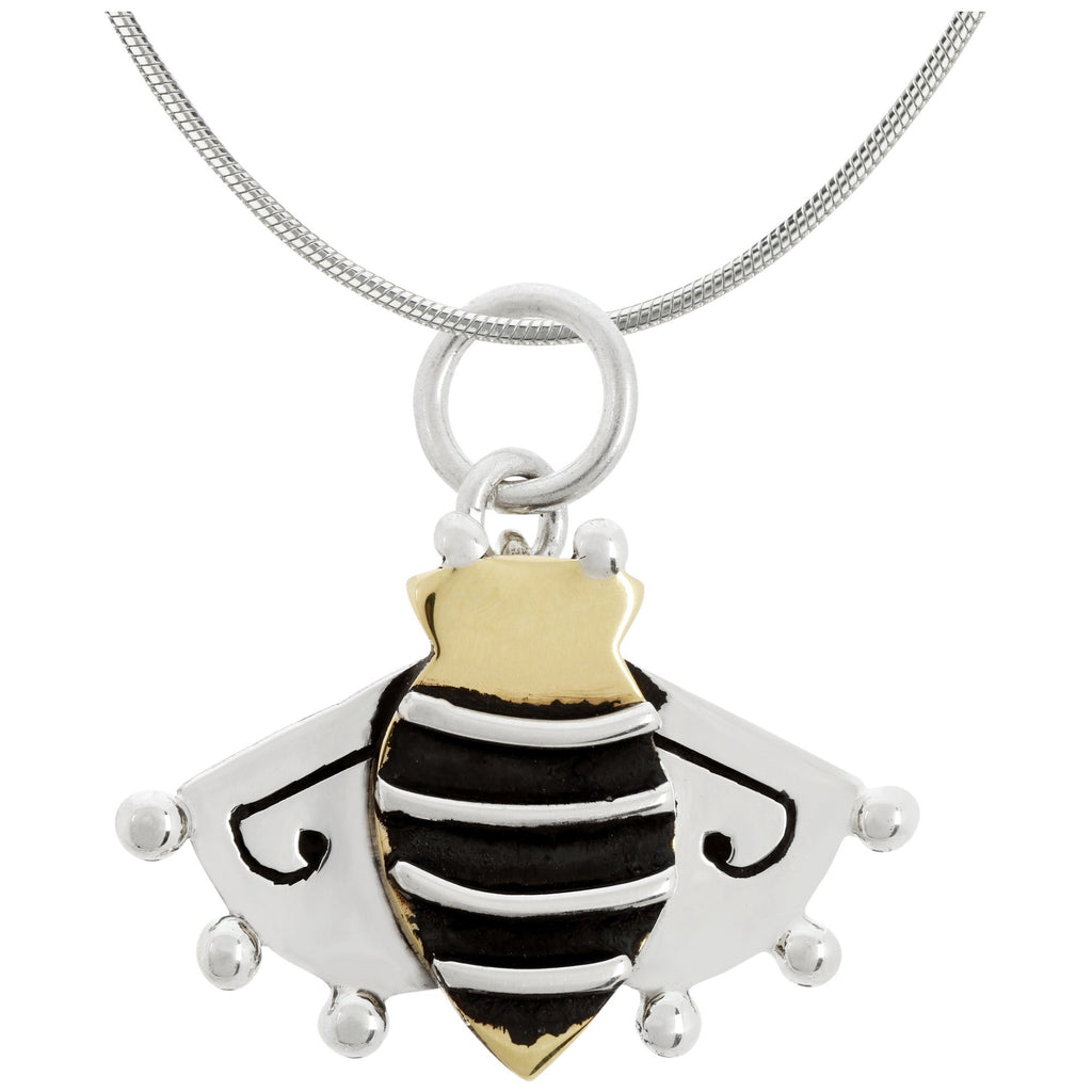 Queen Bee Brass & Sterling Necklace