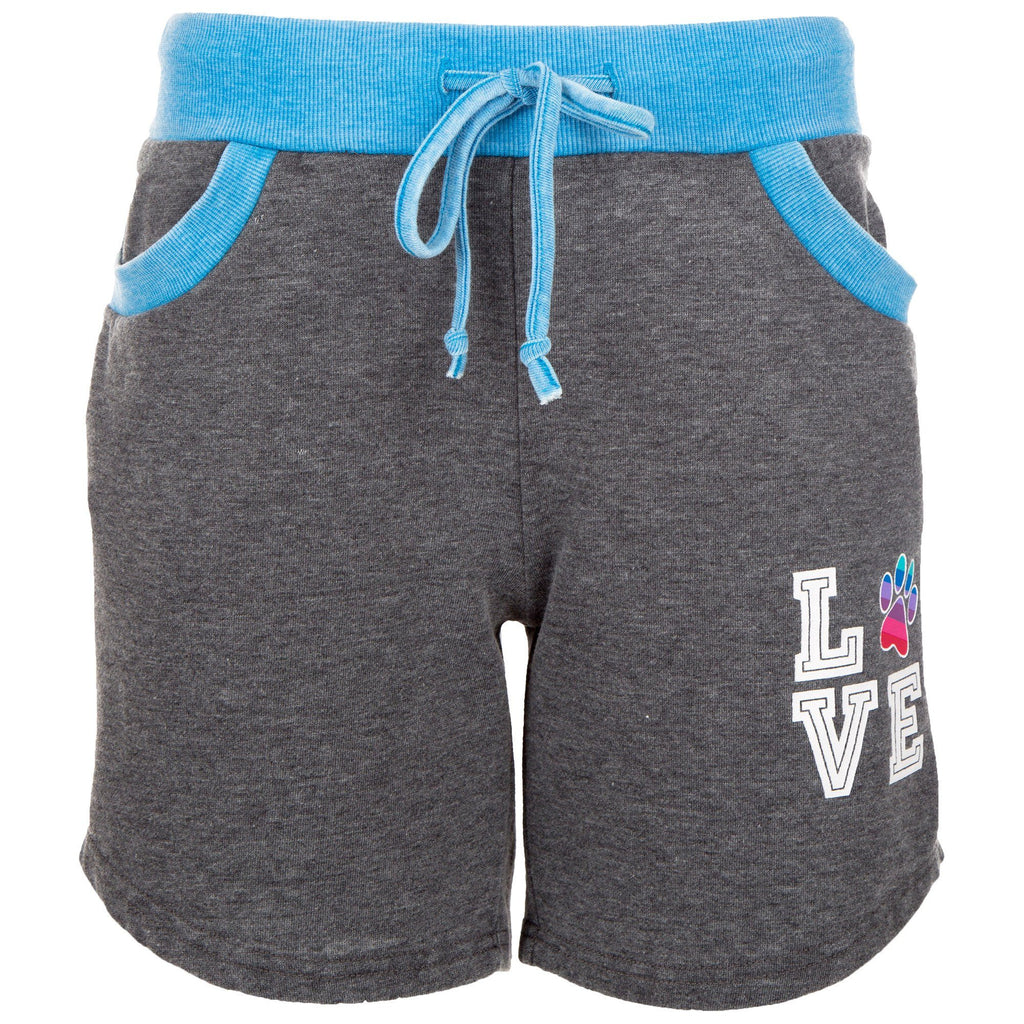 Rainbow Love Paw Burnout Shorts