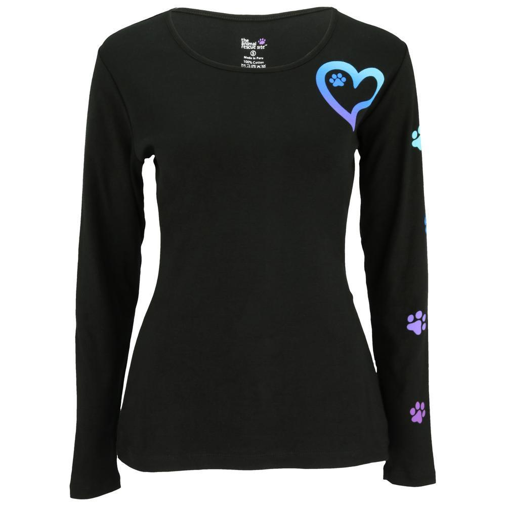 Rainbow Paws To My Heart Long Sleeve Tee