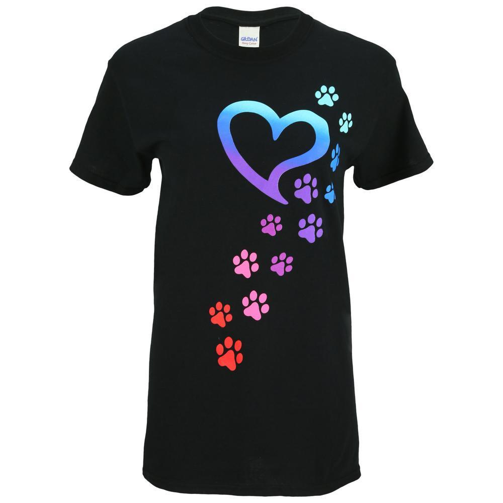 Rainbow Paws To My Heart T-Shirt