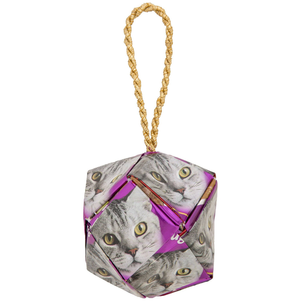 Recycled Cat Food Ornament