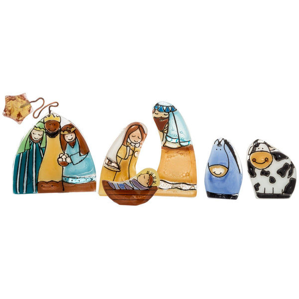 Recycled Glass Nativity Set