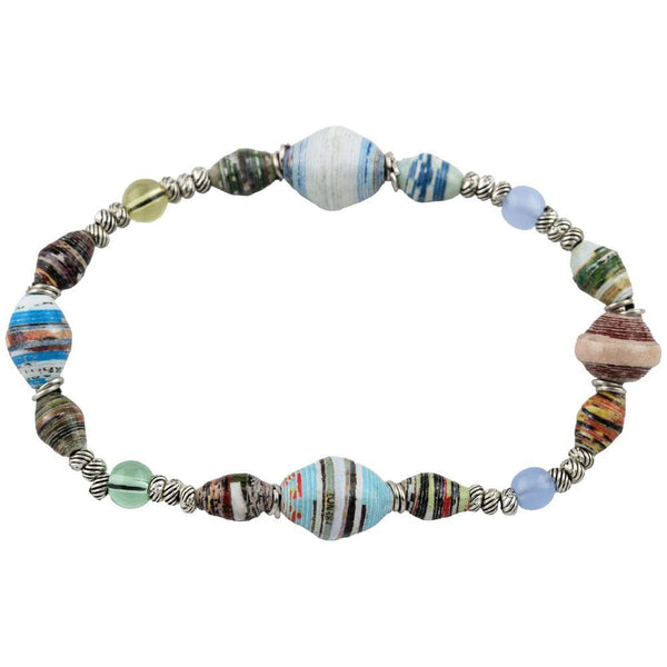 Recycled Magazine Horizon Stretch Bracelet