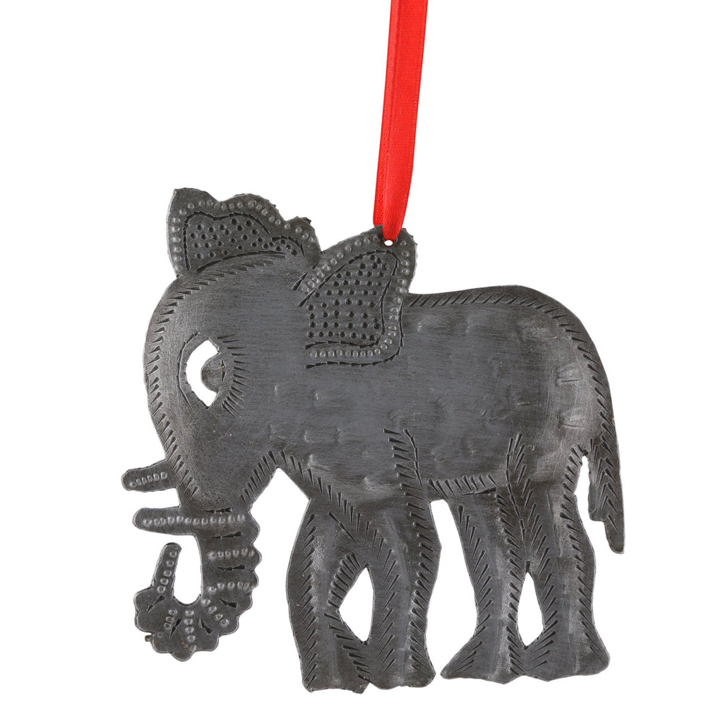 Recycled Oil Drum Elephant Ornament