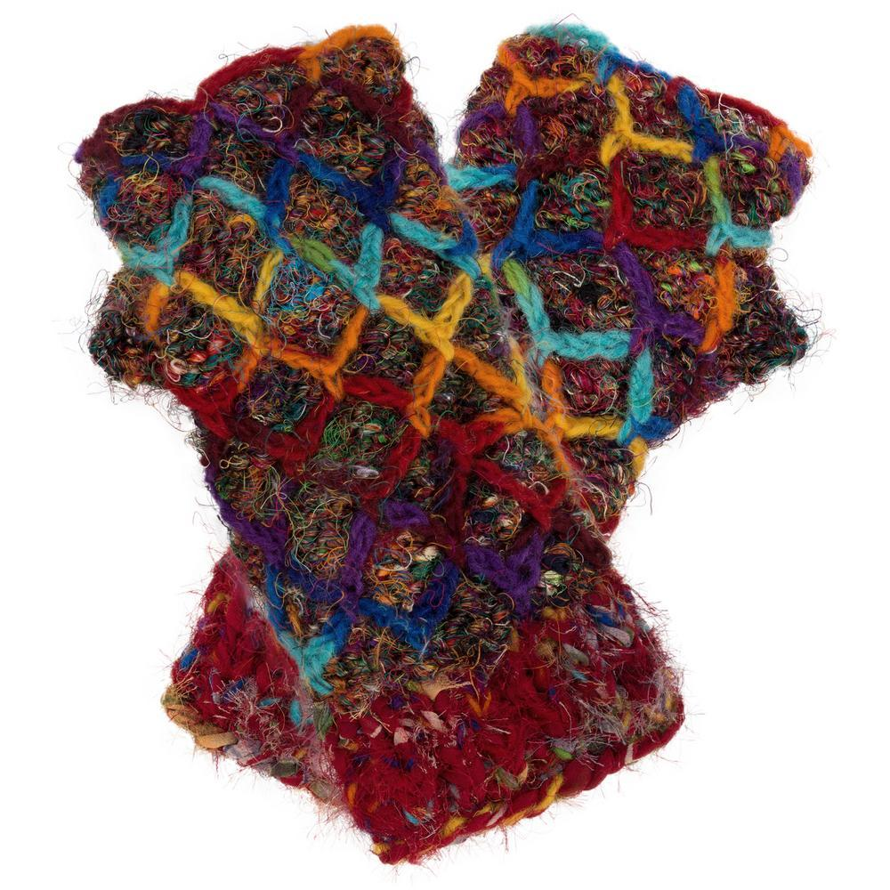 Recycled Silk Fingerless Gloves