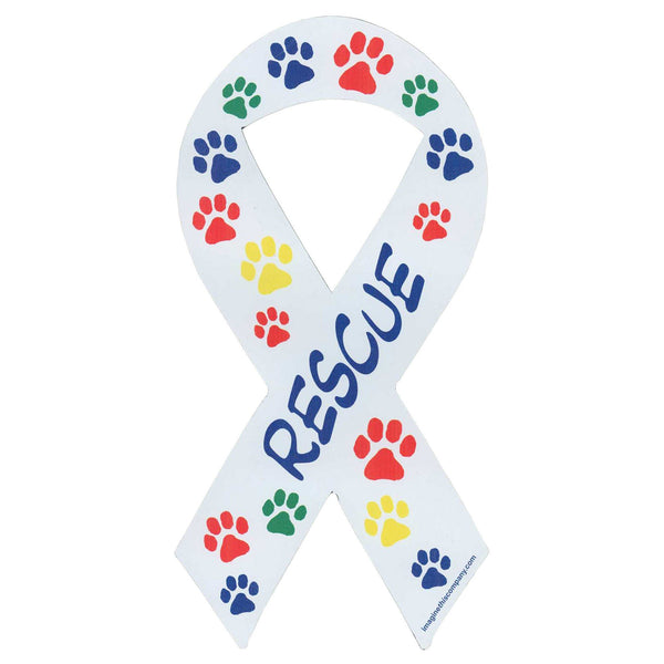 Rescue Ribbon Paw Car Magnet
