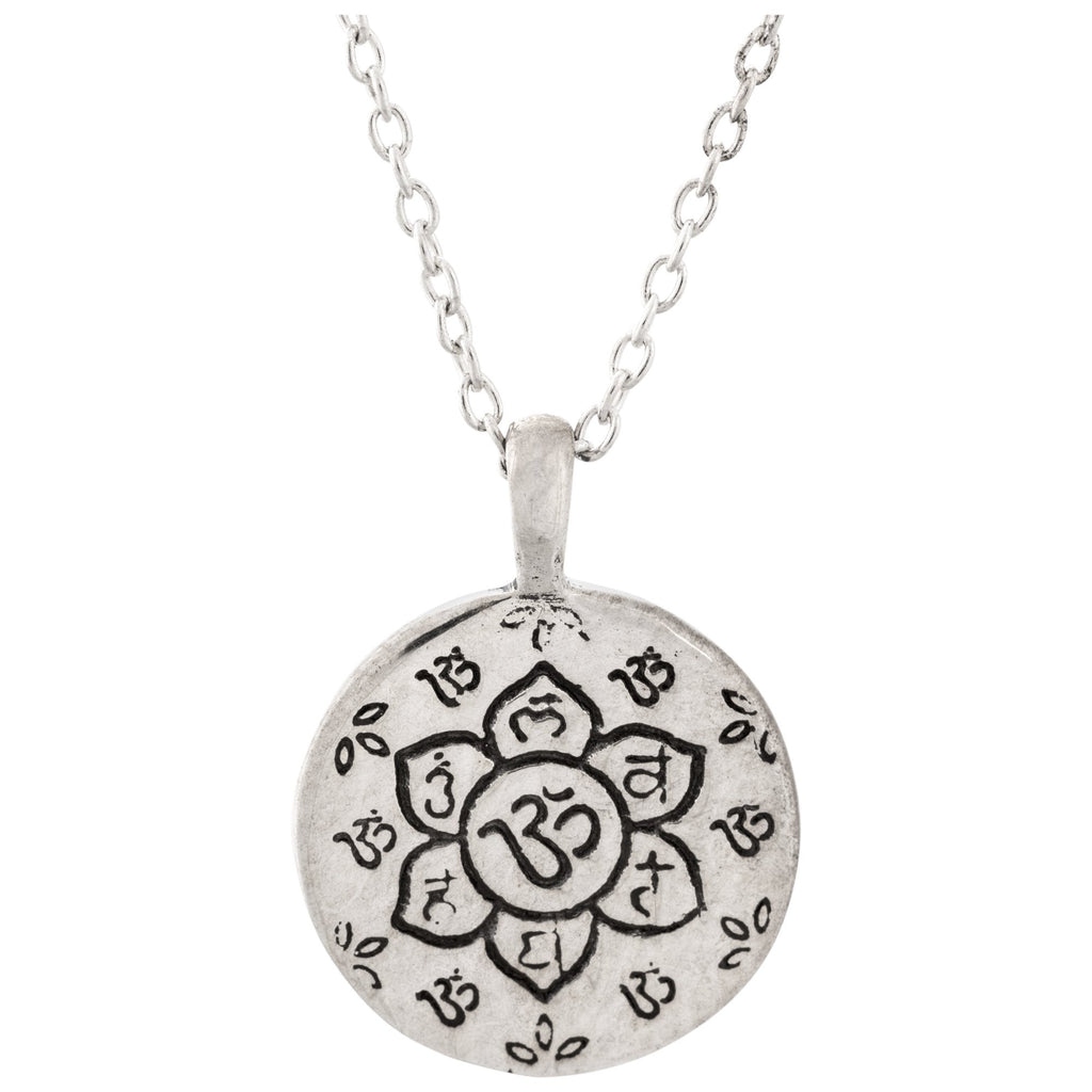 Sacred Lotus Sterling Necklace