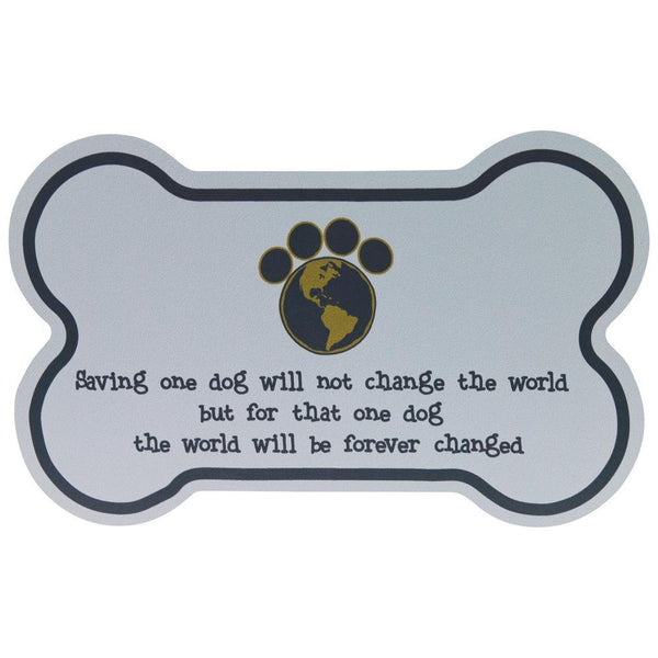 Saving One Dog Car Magnet