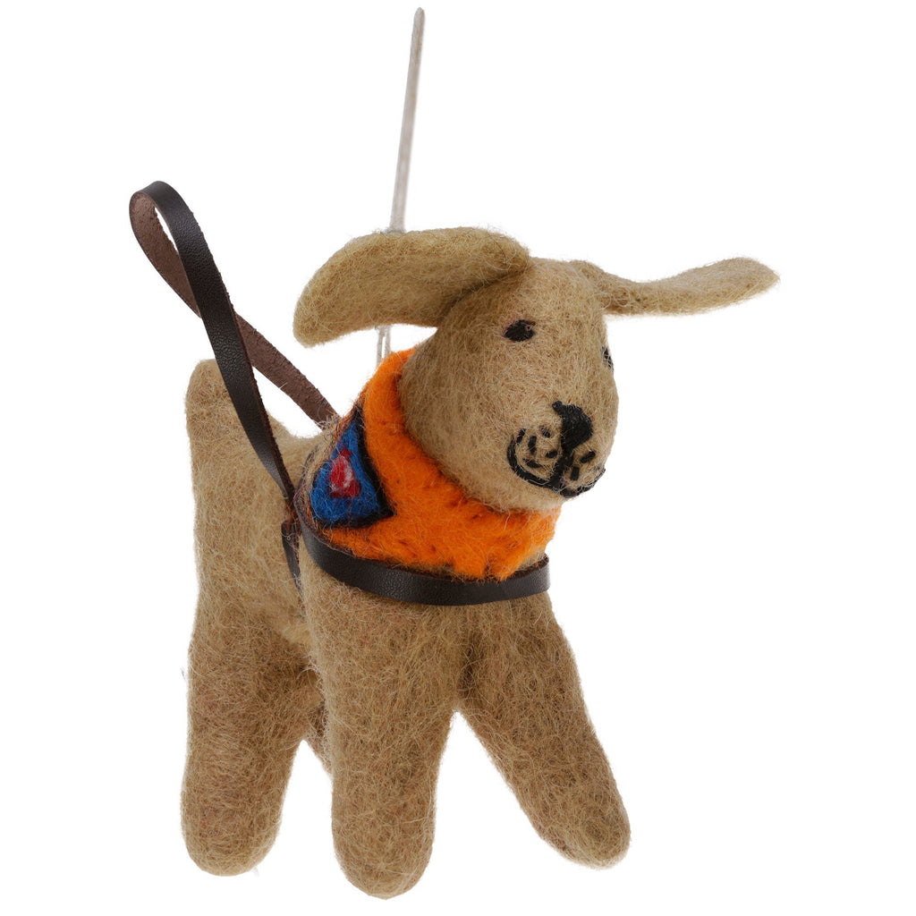 Service Dog Felt Ornament