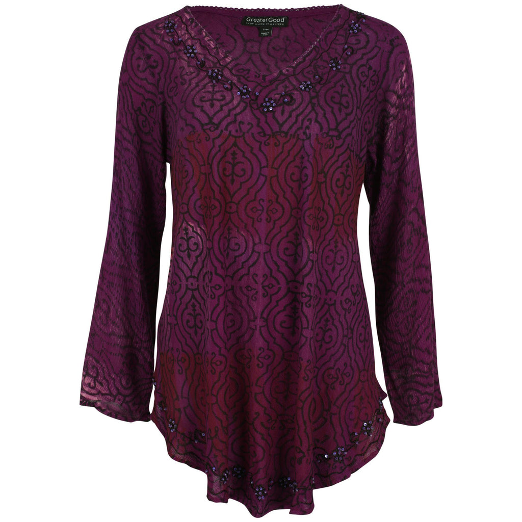 Shades Of Grace Long Sleeve Tunic