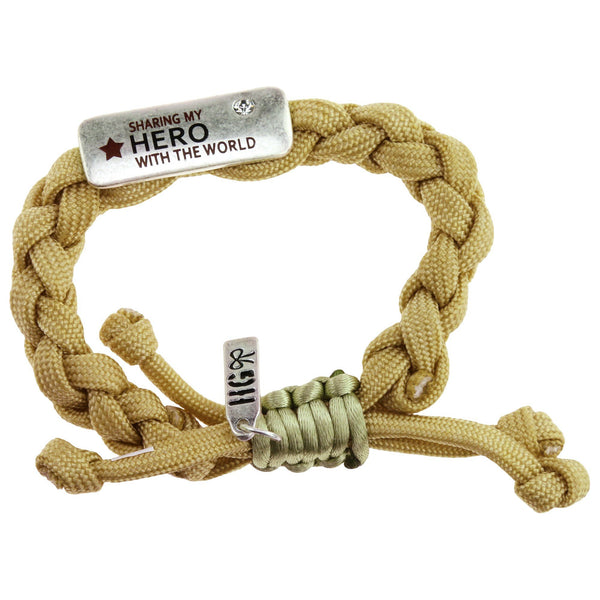 Sharing My Hero With The World Paracord Bracelet