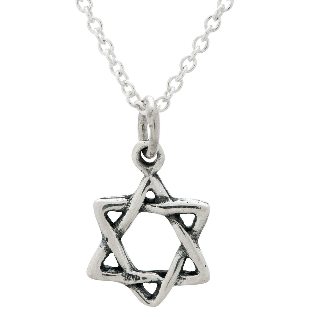 Shield Of David Sterling Necklace