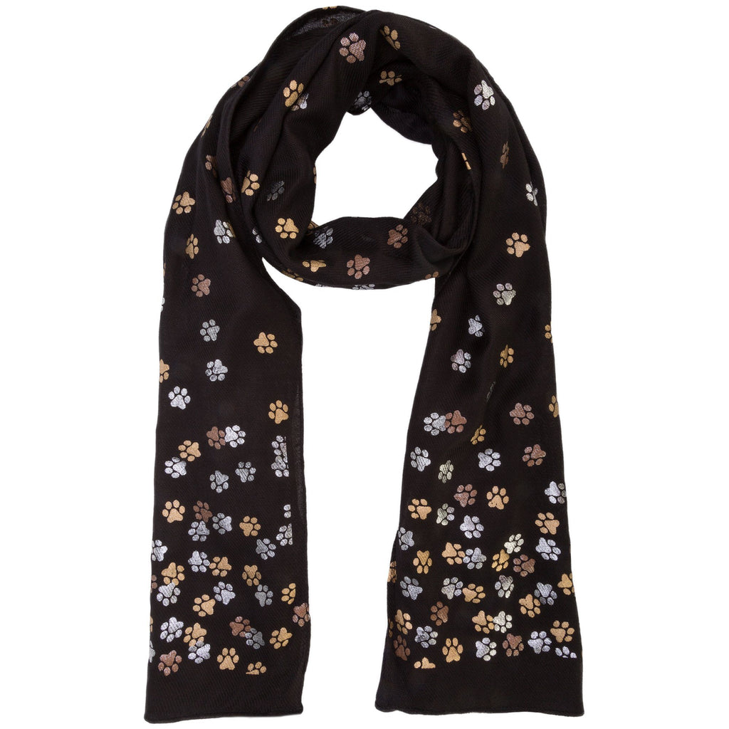 Shimmering Metals Paw Print Scarf