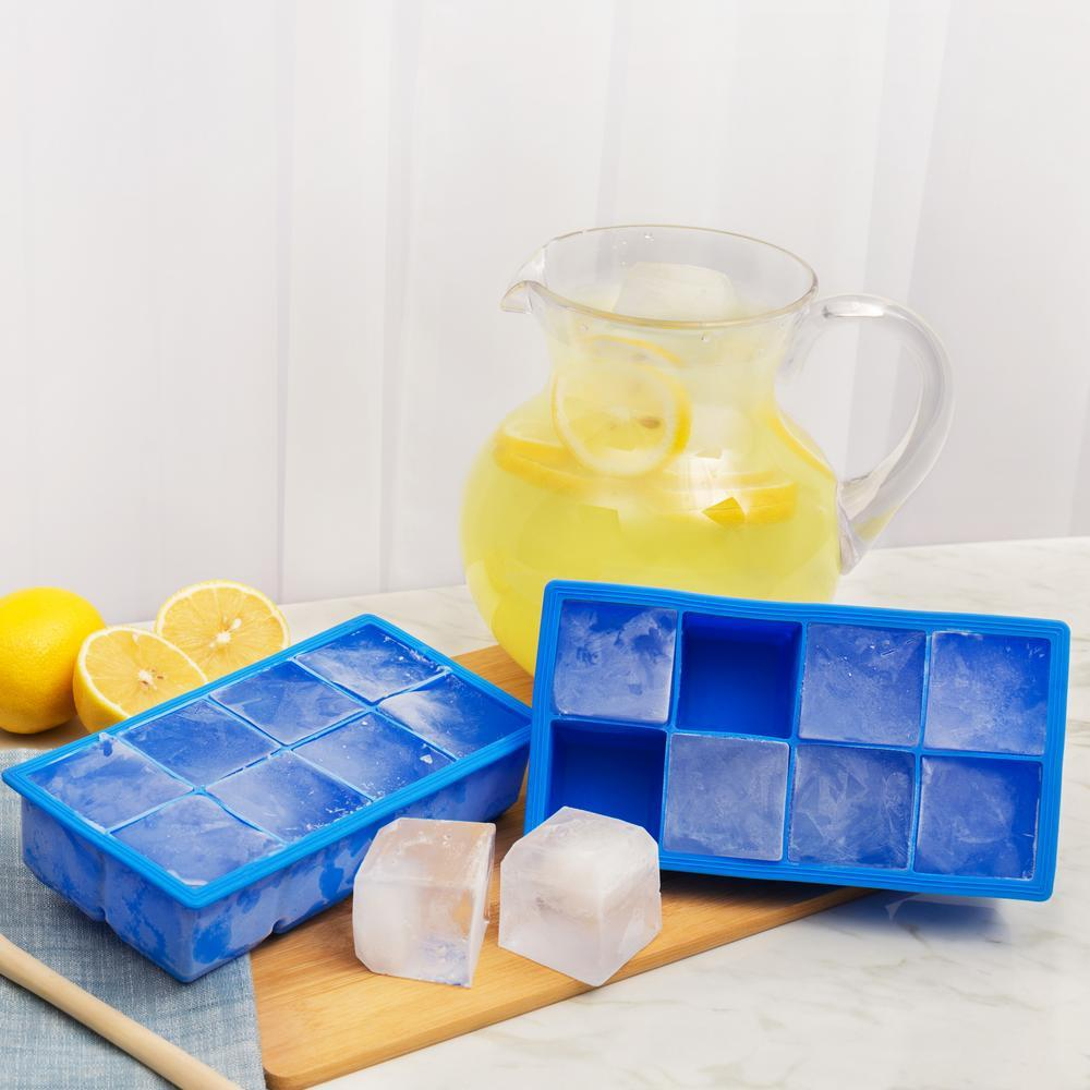 Silicone Jumbo Ice Cube Tray - Set Of 2