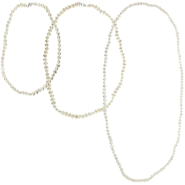 Simple Beauty Pearl Rope Necklace