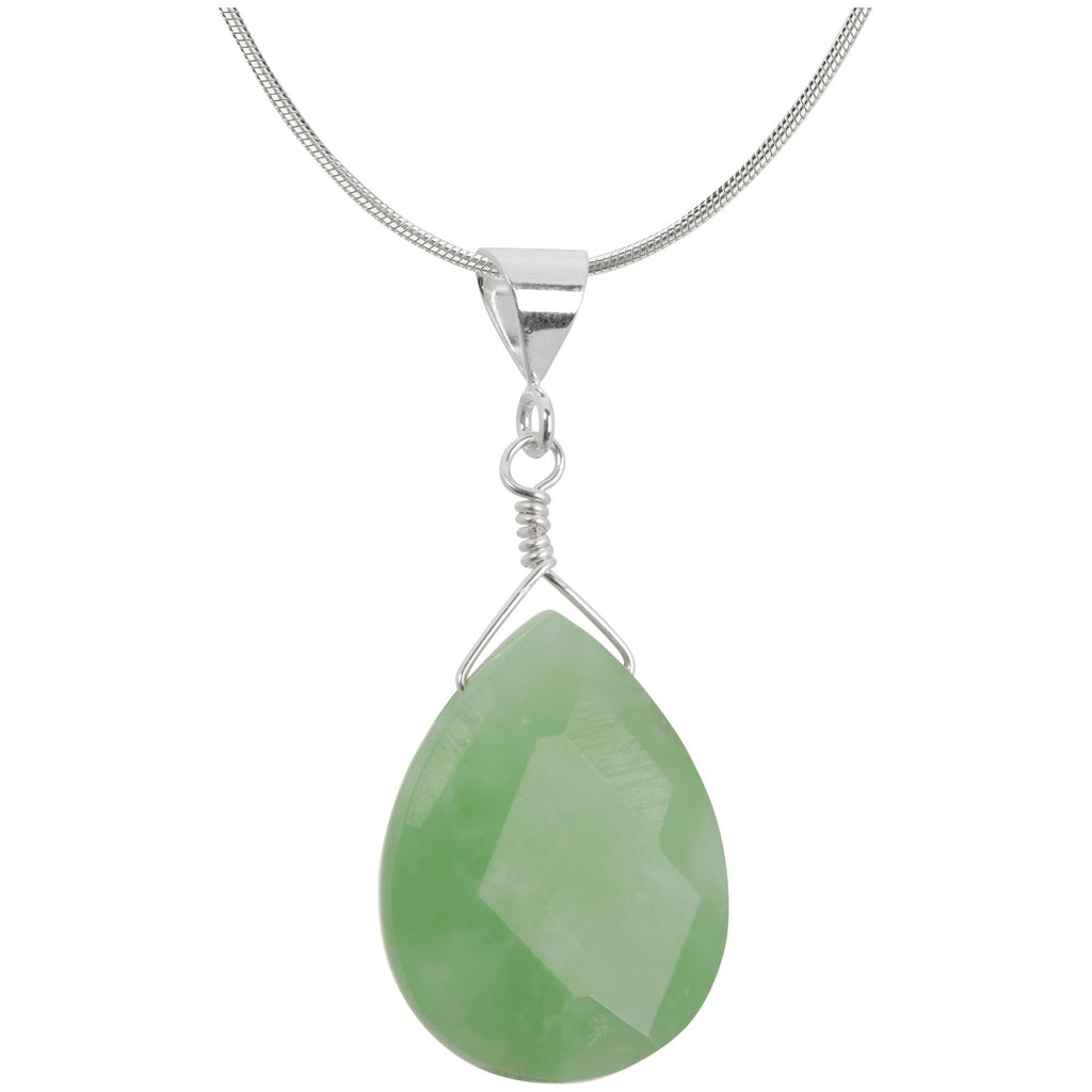 Simple Faceted Gemstone & Sterling Necklace