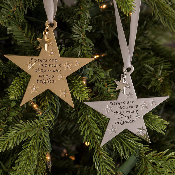 Sisters Are Like Stars Ornament
